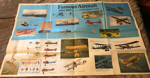 """Vintage 1971 Two Sided Poster Half Century Of Aircraft's Famous Planes 24"""" x 38"""""""