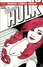 Incredible Hulk #181 Blank Variant with cute Mary Jane Watson original sketch