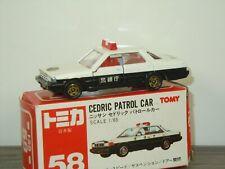 Nissan Cedric Patrol Car - Tomica 58 Japan 1:65 in Box *41398