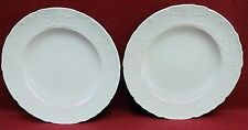 "JOHNSON BROTHERS china RICHMOND White SALAD PLATE 8"" - Set of Two (2)"
