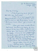 Donna Douglas Vintage Hand written and signed Letter