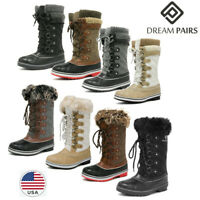DREAM PAIRS Waterproof Women's Winter Snow Boots Faux Fur Lined Mid Calf Boots