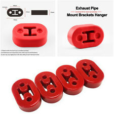4x Universal Car Motorcycle Short Polyurethane Muffler Exhaust Hanger Red 11.5mm
