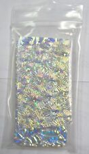 1/4 LB Dichroic Scrap Thin Clear Texture Glass Assortment COE90 Fusible DC137