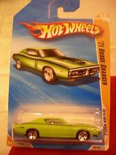 Hot Wheels '71 Dodge Charger Green 2010 New Models
