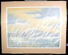 Lee Burr( reynold ) Larg Abstract American Act California Ocean & Sea Oats