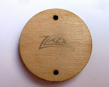 "150 1-1/4 inch x 1/8"" Wooden Circle Laser Craft Disc 2-hole Flat Hard wood USA"