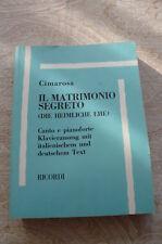 """IL MATRIMONIO SEGRETO"" de CIMAROSA"