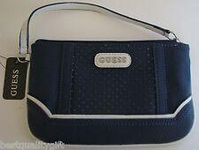 New-Guess Bleu, Marine Multi Mariola Slg Style Texture Dragonne Wallet Pochette