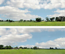 """Scenic Backdrop Passing Town 106D (10' L x 24"""" H) Standard HO Scale"""