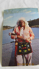 RARE  WISCONSIN DELLS SIGNED CHIEF MIGHTY THUNDER POSTC