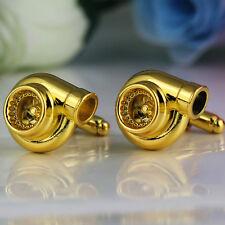 Turbo Cufflinks! Golden Mini Turbos Cufflink Wedding Best Man Mens Suit Formal
