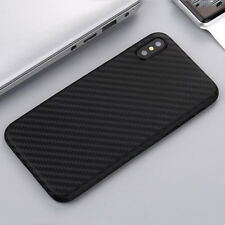 0.3mm Ultra Thin Slim Matte Carbon Fiber Hard Back Case Cover For  iPhone X