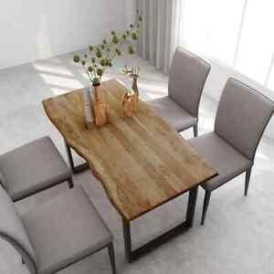 vidaXL Madera Maciza Acacia Mesa de Comedor Consola Muebles Extensible Cocina