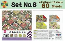 Japanese Origami Craft Paper Square Folding Chiyogami Washi 4 Design 100pcs 15cm