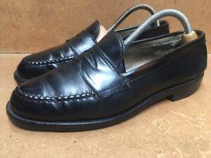 Alden Black Shell Cordovan Penny Slip On Loafers Size USA 7.5 C/ E || UK 6.5