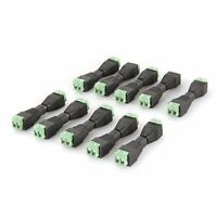 10 Pairs DC Power Female Male Plug Jack Adapter Connector for CCTV Camera SY