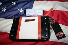 Harley-Davidson Leather Hip-Bag Purse Sz Small: messenger/biker/crossbody #5129