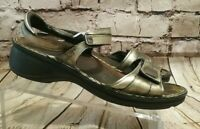 Naot Sandals Women's Sz 39 US 8 Metallic Hook and Loop