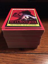 1983 Star Wars The Return of the Jedi Cards-Full set of 132 + 42 stickers (misc)