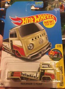 VOLKSWAGEN T2 PICKUP #201 tan VW Bus Truck Art Car 2017 HW Hot Wheels