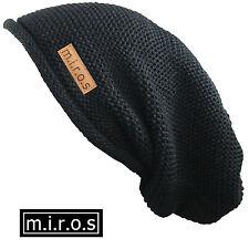 MUJER LARGA Gorro Álex negro / hecho a Mano Gorro de invierno de M. I. r.o.s