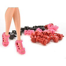 10 Pairs Fashion Dolls Shoes Heels Sandals For Barbie Dolls Outfit Dress Toy EF
