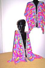 """Kaftans Jacket (Wholesale Price)   """"Vibrant Sequin Embellished""""   (Hip length)"""