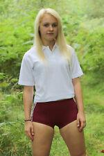 Gym Knickers sze 22in waist PE/Games Briefs Netball Sport Panties Shorts Maroon