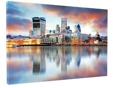 "STUNNING LONDON SKYLINE LANDSCAPE CANVAS PICTURE PRINT WALL ART 20"" x 30"" - NEW"