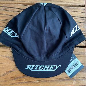 RITCHEY EURO Black Cycling Cap New Bike Hat New Design !!  Free Shipping !!