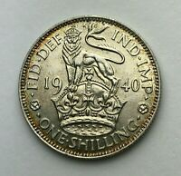 Dated : 1940 - Silver Coin - One Shilling - King George VI - Great Britain