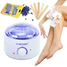 W-Smart Depilatory Waxing Kit Heater Wax Pot Warmer Strips For Hair Removal UK