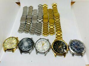 Job Lot Of 5x Seiko 4T57-XXXX Watches  SPARE/REAPIR,READ DESCRIPTION