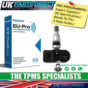 TPMS Tyre Pressure Sensor for Jaguar XE (14-15) - PRE-CODED - Ready to Fit