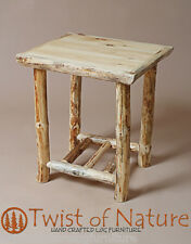 Log end table/ night stand      TWIST OF NATURE