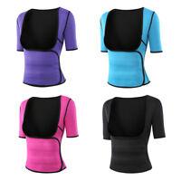 Women Sweat Vest Sleeves Body Shaper Waist Trainer Cincher Corset Tummy Slimming