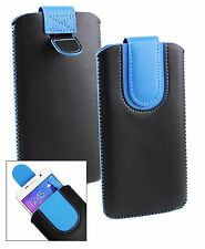 Stylish PU Leather Pouch Case Sleeve has Pull Tab Fits Polaroid Phones