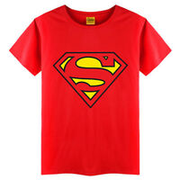 Kids Toddler Baby Boys Short Sleeve Superman Summer T-shirt Tops Tee Age 2-7Y