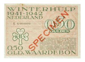 Netherlands - ½ Gulden Banknote - 'Winterhulp Waardebon' - 1941 - VF