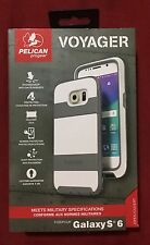 New Pelican Voyager Case and Holster for Samsung Galaxy S6 - White / Gray