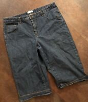 Women's CHRISTOPHER & BANKS Stretch Jean Capris Size 14