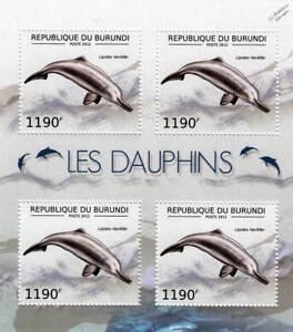 BAIJI (Yangtze River) DOLPHIN Marine Life Stamp Sheet #4 of 7 (2012 Burundi)