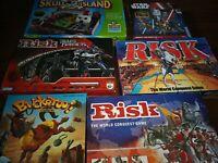 Board Games Bundle Job lot risk buckaroo skull island starwars