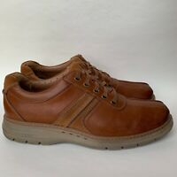 Clarks Leather Lace Up Casual Shoes Sneakers Brown Men's Size 11.5 M