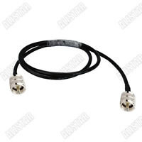 UHF PL259 Male plug to PL-259 Male Pigtail Cable RG58 Wireless Antenna ( 5M )