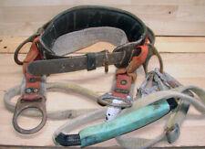 "Buckingham Tree~Pole Climbing Linesman Belt w/Saddle & Safety Belts 37"" - 46"""