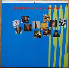 STAR KALENDER 1992 Udo Lindenberg, Howard Carpendale, Nina Hagen, Matthias Reim