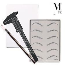 MICROBLADING PRACTICE Kit - Ruler, Skin, Brow pencil - Training Eyebrow Set