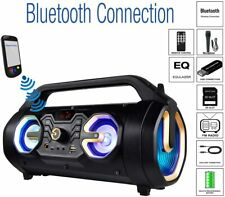 Boytone BT-16G Portable Bluetooth Speaker Boombox, Indoor/Outdoor 2.1 Hi-Fi Gold